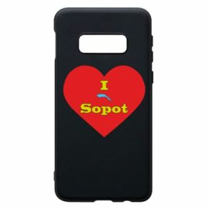 "Phone case for Samsung S10e ""I love Sopot"" with symbol"
