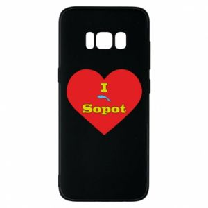 "Phone case for Samsung S8 ""I love Sopot"" with symbol"
