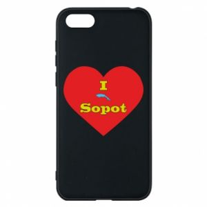 "Phone case for Huawei Y5 2018 ""I love Sopot"" with symbol"
