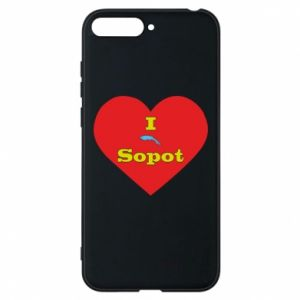 "Phone case for Huawei Y6 2018 ""I love Sopot"" with symbol"