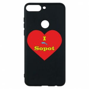 "Phone case for Huawei Y7 Prime 2018 ""I love Sopot"" with symbol"