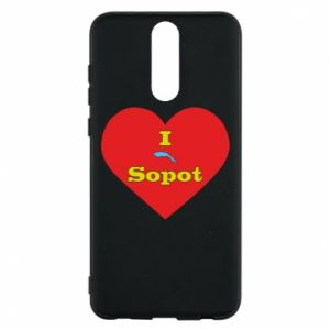 "Phone case for Huawei Mate 10 Lite ""I love Sopot"" with symbol"