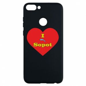 "Phone case for Huawei P Smart ""I love Sopot"" with symbol"
