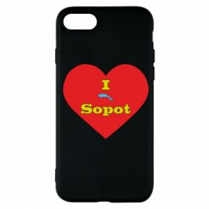 "Phone case for iPhone 7 ""I love Sopot"" with symbol"