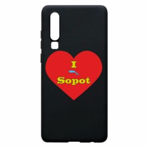 "Phone case for Huawei P30 ""I love Sopot"" with symbol"