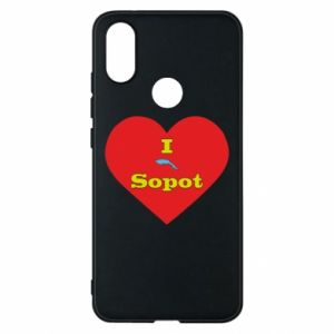 "Phone case for Xiaomi Mi A2 ""I love Sopot"" with symbol"