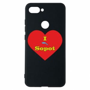 "Phone case for Xiaomi Mi8 Lite ""I love Sopot"" with symbol"