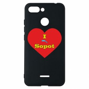"Phone case for Xiaomi Redmi 6 ""I love Sopot"" with symbol"