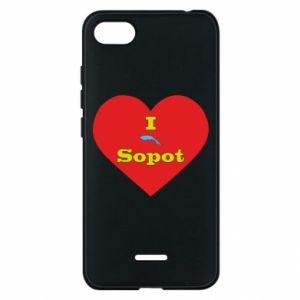 "Phone case for Xiaomi Redmi 6A ""I love Sopot"" with symbol"