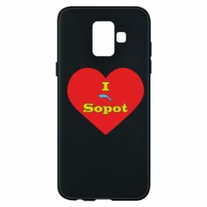 "Phone case for Samsung A6 2018 ""I love Sopot"" with symbol"