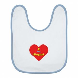 "Bib ""I love Sopot"" with symbol"