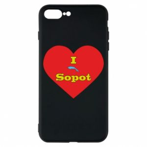 "Phone case for iPhone 8 Plus ""I love Sopot"" with symbol"