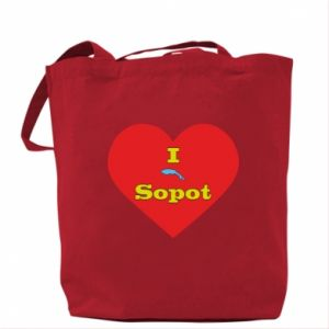 "Bag ""I love Sopot"" with symbol"