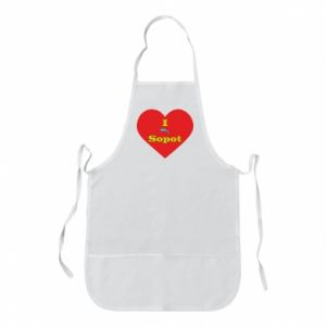 "Apron ""I love Sopot"" with symbol"