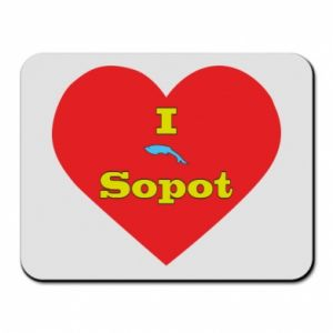 "Mouse pad ""I love Sopot"" with symbol"