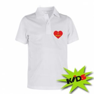 "Children's Polo shirts ""I love Sopot"" with symbol"