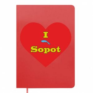 "Notepad ""I love Sopot"" with symbol"