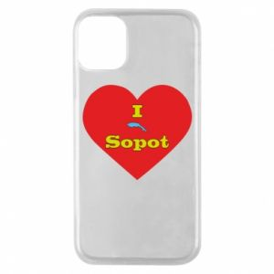 "Phone case for iPhone 11 Pro ""I love Sopot"" with symbol"