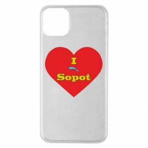 "Phone case for iPhone 11 Pro Max ""I love Sopot"" with symbol"