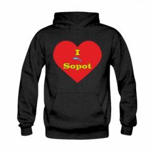 "Kid's hoodie ""I love Sopot"" with symbol"