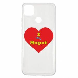 "Xiaomi Redmi 9c Case ""I love Sopot"" with symbol"