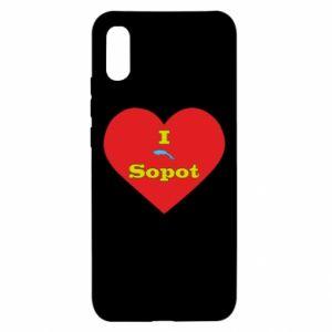 "Xiaomi Redmi 9a Case ""I love Sopot"" with symbol"