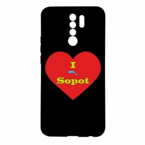 "Xiaomi Redmi 9 Case ""I love Sopot"" with symbol"