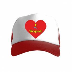 "Kid's Trucker Hat ""I love Sopot"" with symbol"