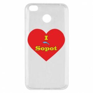 "Xiaomi Redmi 4X Case ""I love Sopot"" with symbol"