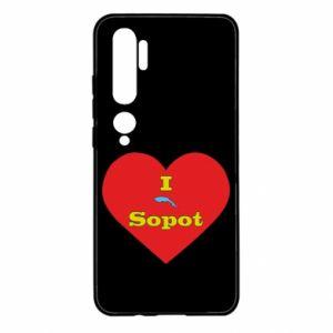 "Xiaomi Mi Note 10 Case ""I love Sopot"" with symbol"