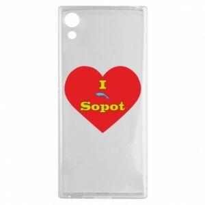 """Sony Xperia XA1 Case """"I love Sopot"""" with symbol"""
