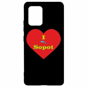 "Samsung S10 Lite Case ""I love Sopot"" with symbol"