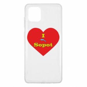 "Samsung Note 10 Lite Case ""I love Sopot"" with symbol"