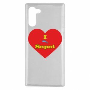 "Samsung Note 10 Case ""I love Sopot"" with symbol"