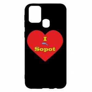 "Samsung M31 Case ""I love Sopot"" with symbol"