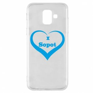 Phone case for Samsung A6 2018 I love Sopot