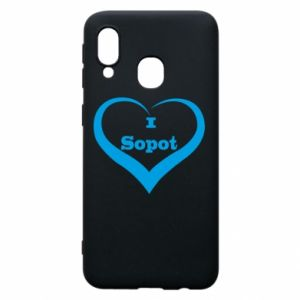 Phone case for Samsung A40 I love Sopot