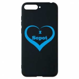 Phone case for Huawei Y6 2018 I love Sopot