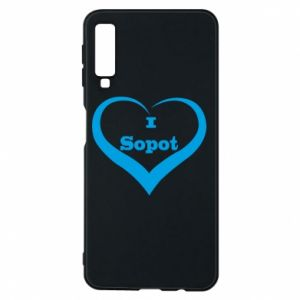 Phone case for Samsung A7 2018 I love Sopot