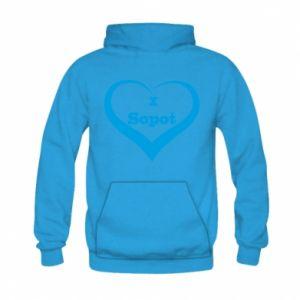 Kid's hoodie I love Sopot