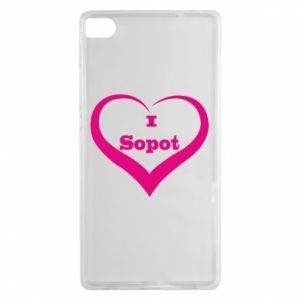 Huawei P8 Case I love Sopot