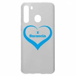 Samsung A21 Case I love Szczecin