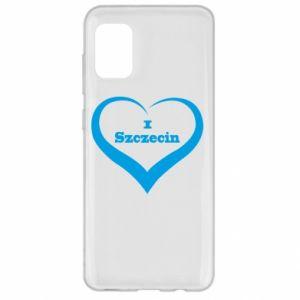 Samsung A31 Case I love Szczecin