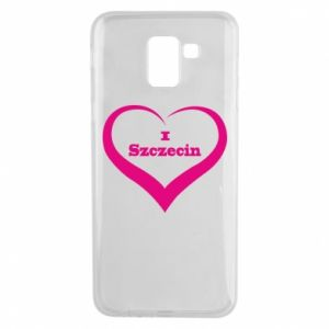Phone case for Samsung J6 I love Szczecin