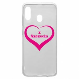 Phone case for Samsung A20 I love Szczecin
