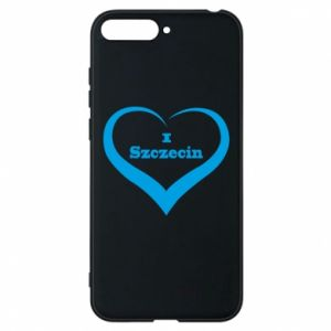 Phone case for Huawei Y6 2018 I love Szczecin