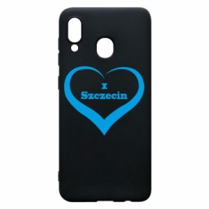 Phone case for Samsung A30 I love Szczecin