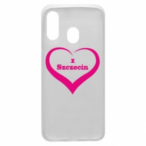 Phone case for Samsung A40 I love Szczecin