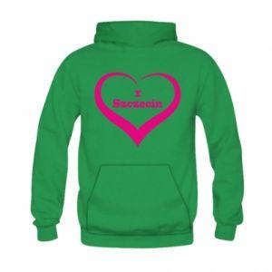 Kid's hoodie I love Szczecin