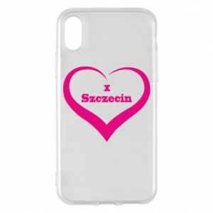 Phone case for iPhone X/Xs I love Szczecin
